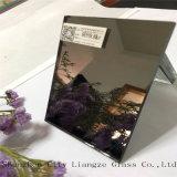 espejo de plata claro y colorido del espejo azul de la joyería de 4m m, espejo coloreado de cristal para la decoración