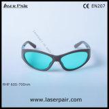 635 nm, 650nm, 694nm laser des lunettes de sécurité et de lunettes de protection laser pour les lasers rouges, Ruby Protection 600-700nm Ce FR207