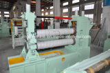 Mm em aço inoxidável 0.2-6corte longitudinal e rebobinagem de processo da máquina