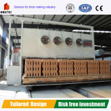 China Tech Horno Túnel para la fabricación de ladrillo rojo.