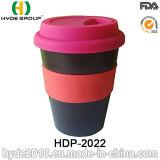 Einzelne Wand-PlastikIsolierkaffeetasse mit Band (HDP-2022)