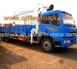 クレーン、トラックによって取付けられるクレーン10-12トンのが付いているトラック、クレーントラック