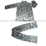ポリエステル防水ジャケットによっては喘ぐズボンのRainwear雨スーツRainsuit (RWA06)が