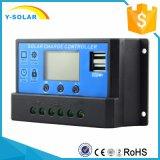 30A 12V/24V PWMはコントローラCm20K-30A USB-5V/3Aの太陽電池パネル電池の二倍になる