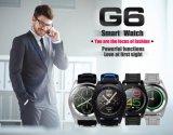Montre-bracelet à télécommande de moniteur de sommeil du numéro 1 G6 Bluetooth 4.0 Smartwatch de moniteur du rythme cardiaque de montre intelligente chaude de Psg pour la bande en acier d'IOS de noir androïde de smartphone