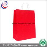 La aduana al por mayor imprimió el bolso impreso papel del regalo que hacía compras con la maneta de papel