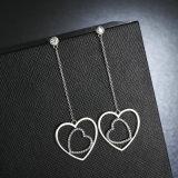De vrouwen vormen Juwelen Trendy Authentieke 925 het Echte Lange Zilver de Oorringen van de Daling bengelt