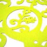 Placemat en polyester de 3 mm et 5 mm pour décorations de table et de vacances