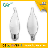 C37 LEDの蝋燭ライト6W E27 4000k