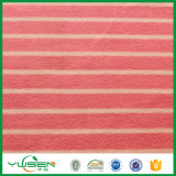 Tela polar del paño grueso y suave de la impresión con bilateral aplicada con brocha con las verificaciones rojas