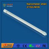 luz fluorescente Nano do diodo emissor de luz 18W da câmara de ar 1200mm do diodo emissor de luz do plástico T8 de 4FT para escolas