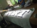Торговый центр бизнес реклама Логотип светодиод светится неоновыми открыть вход белого алюминия акриловый алфавит пластиковый канал письма
