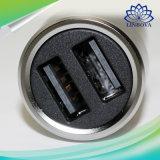Argento Port doppio di carico veloce di stile del metallo del caricatore dell'automobile del USB