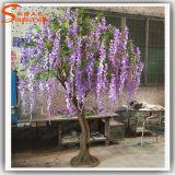 Decoração do casamento Árvore de flor artificial de fibra de vidro