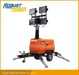 Torretta di illuminazione mobile dell'albero telescopico idraulico