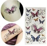 Autoadesivi variopinti alla moda del tatuaggio della farfalla