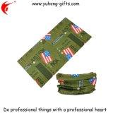 衣服の昇進(YH-HS120)のための米国のフラグのロゴの高品質のヘッドスカーフ