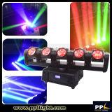 단계 디스코 LED 점화 5X12W RGBW 4in1 LED 광속 이동하는 맨 위 빛