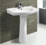 Lavabo sur pied en céramique de salle de bains moderne chaude de vente