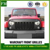 Gril de pare-chocs avant de noir de maille d'ABS pour le Wrangler 2007-2017 de jeep