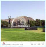 Trusses de techo de aluminio Spigot Truss de escenario