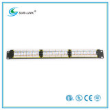 24 portas UTP CAT6um patch panel com Barra Traseira