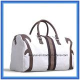 El bolso del recorrido de la lona de la maneta del cuero de la PU de la promoción, bolso práctico del equipaje del totalizador, se divierte el bolso para al aire libre