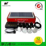 Solar8W beleuchtungssystem mit 4PCS hohen Birnen des Lumen-LED