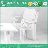 Dublin Ensemble à manger Chaise en aluminium Chaise à manger Chaise à table Rectangulaire Chaise à l'épreuve des eaux extérieure (MAGIC STYLE)