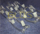 Gldg 4in1 Male aan Female Glass Drop Down voor Waterpijp Glass