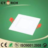 Luz del panel cuadrada de la alta calidad LED de Ctorch con el Ce 3-24W