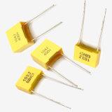 тип коробки пленочного конденсатора полиэфира 0.47UF ссыпая пакуя Metallzied