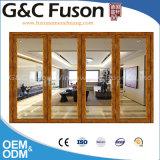 Vidrio templado de Bi de aluminio de doble puerta plegable fabricado en China