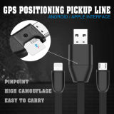 Mini cable USB portátil con función de carga para iOS y Android GPS Tracker
