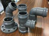 Faucet quente do encaixe de tubulação do PVC do plástico e flange da inserção que reduz o T
