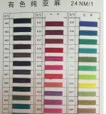 Tela di 100%/filato di lavoro a maglia/di tessitura 24nm/1 del lino