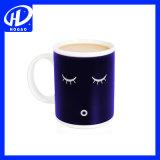 Creative Smiling Face Céramique Changement de température Couleur Tasse Mug