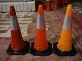 cones da segurança de estrada de 75cm com as duas fitas reflexivas