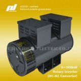 Energia elétrica DC para gerador de corrente alternada (conversor rotativo)