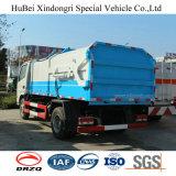 5cbm Dongfeng 유로 4 반자동 옆 선적 후방 덤프 쓰레기 쓰레기 압축 분쇄기 트럭