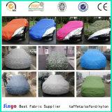 Tela de capa de carro de tafetá de poliéster 100% protetora de UV com impermeável