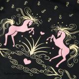 Frauen A - Zeile faltete Größen-Pony-Druck-Fußleisten des Weinlese-Tanz-Schwingen-eins