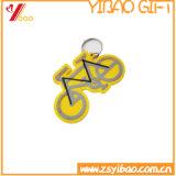 PVCおよびシリコーンのKeychainの円形整形柔らかい習慣(XY-HR-84)
