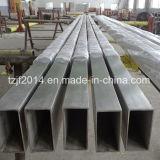 304 o corrimão de Aço Inoxidável Tubo Quadrado