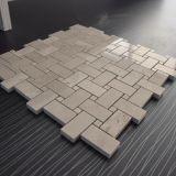 Плитка мозаики Emperador конструкции Basketweave светлая мраморный для украшенной стены