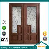 Porta de vidro dianteira clássica da madeira contínua com painel de vidro