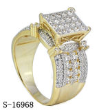 상한 디자인 보석 다이아몬드 반지 은 925
