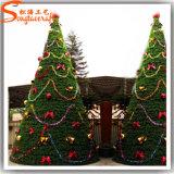 Albero di Natale artificiale dell'ago del pino della neve