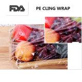L'imballaggio trasparente del PE aderisce pellicola dell'involucro per l'involucro dell'alimento