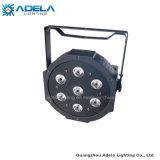 7X10W RGBW 4in1 LED flaches NENNWERT-DJ-Disco-Stab-Raum-Plastiklicht